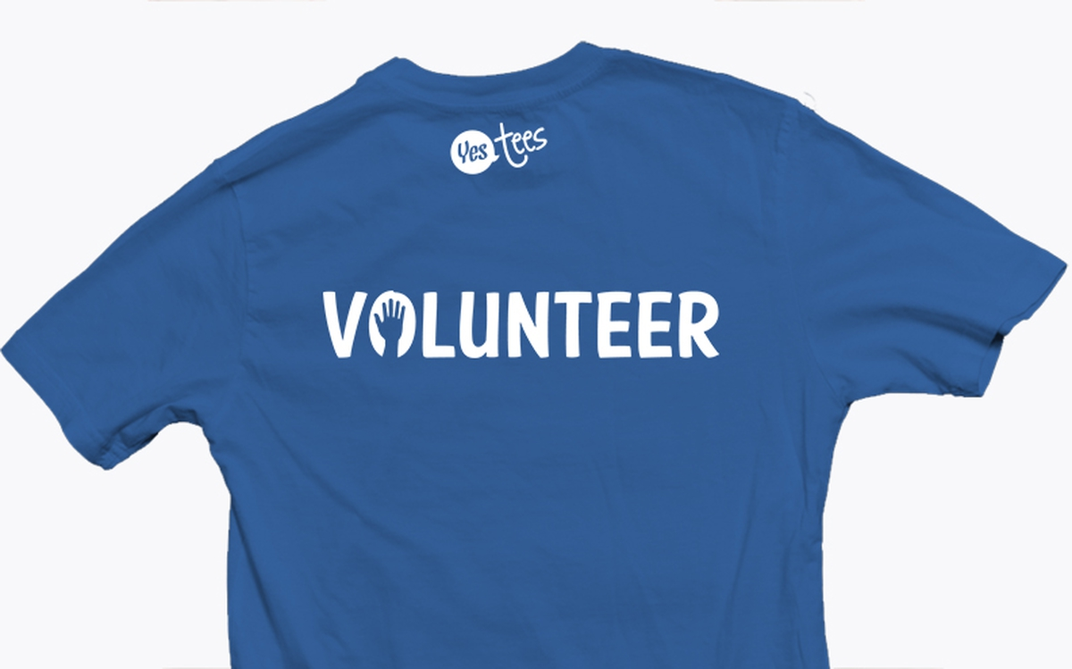Blue Volunteer T Shirt Slogan