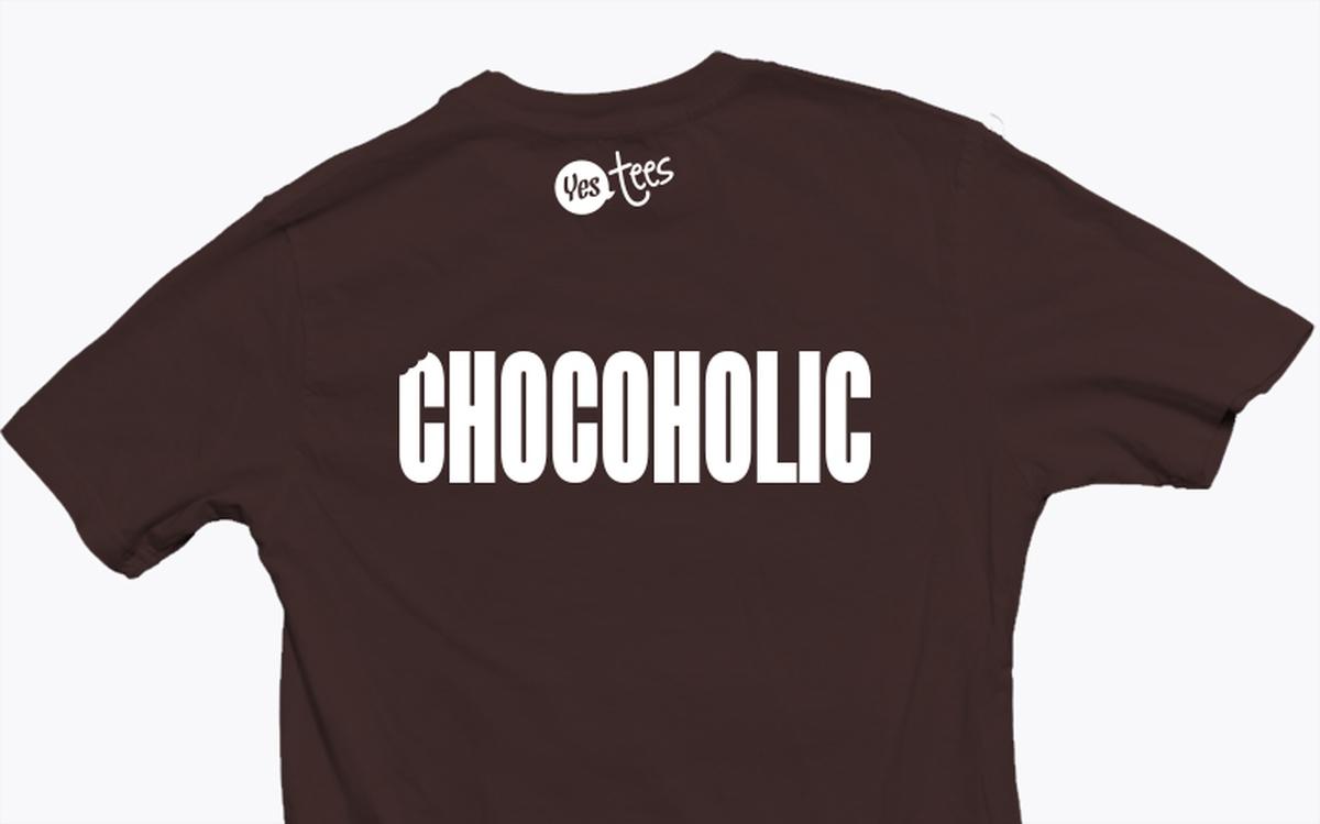 e7f4554820c4 I'm a Chocoholic T-Shirt Design For Sweet Addicts