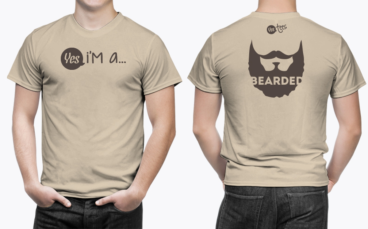 High Quality Brown Bearded T-Shirt Available For Men