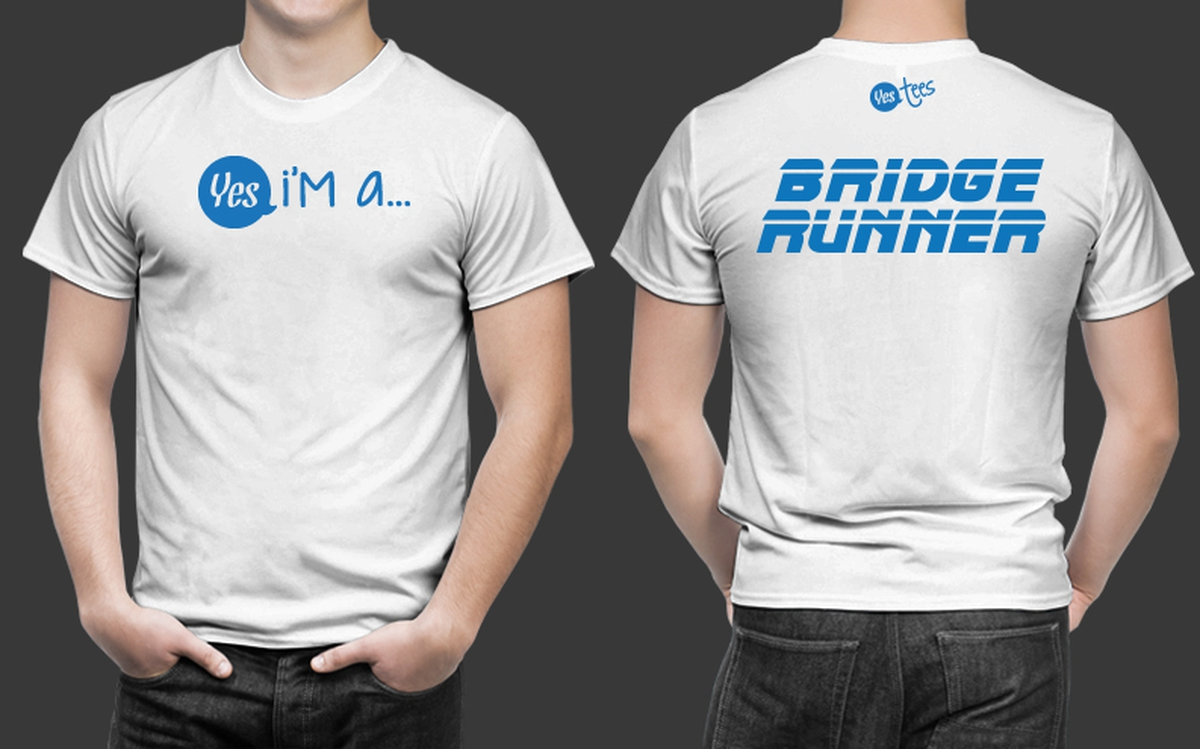High Quality White Bridge Runner T-Shirt for Men