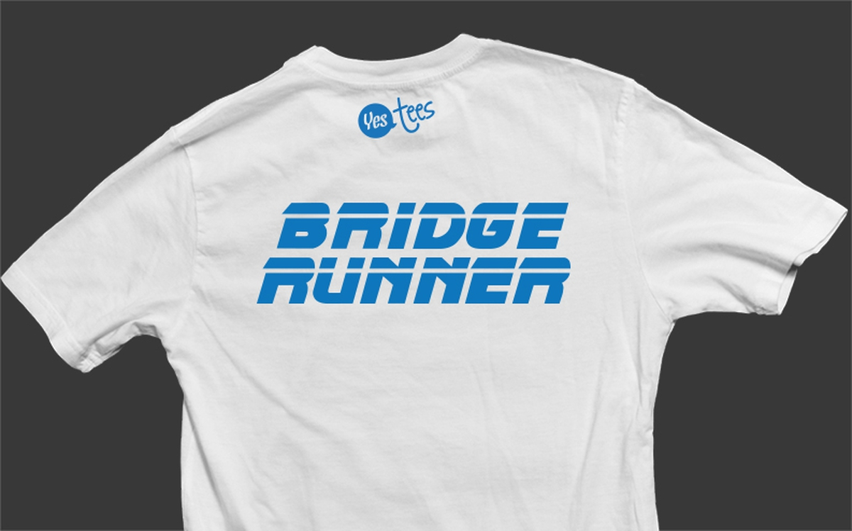 White Bridge Runner T-Shirt Slogan