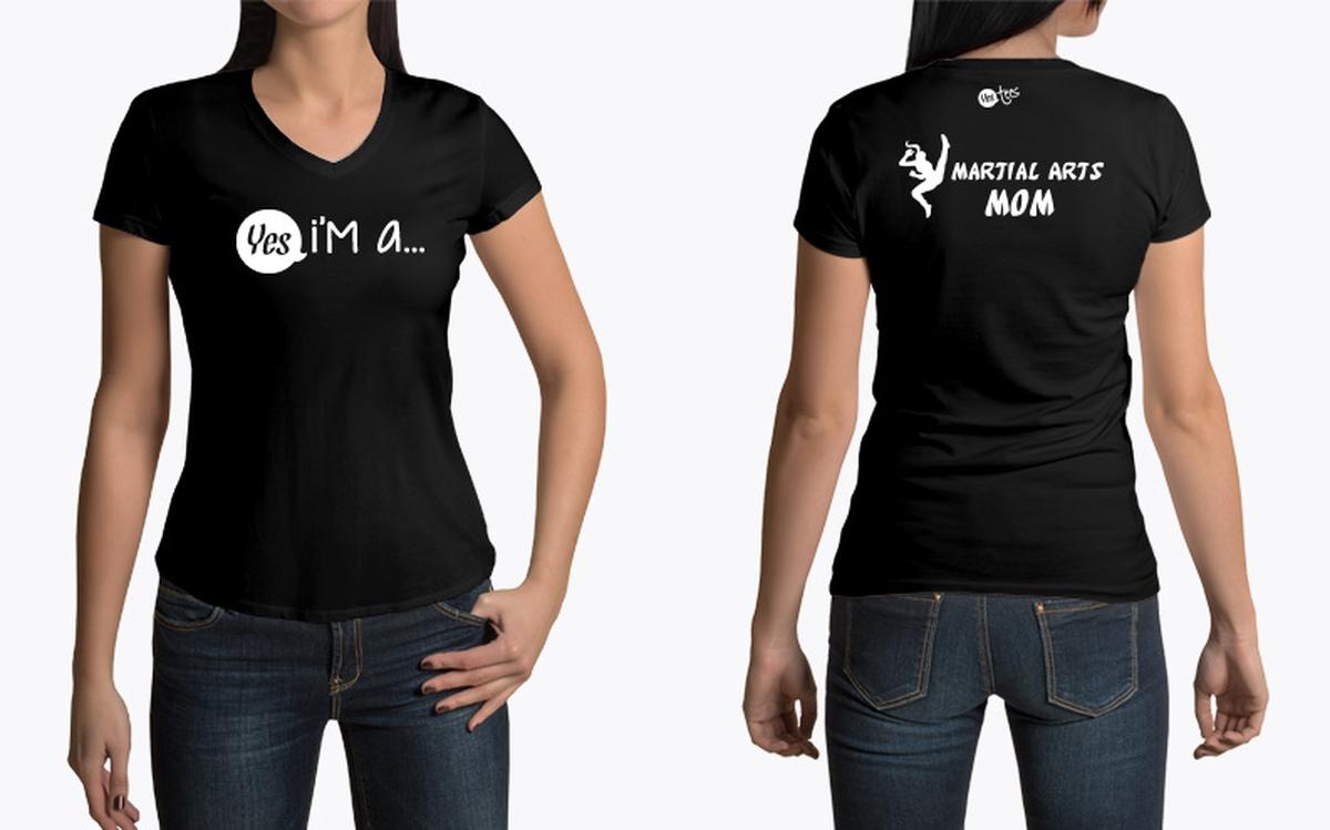 Best I'm a Martial Arts Mom T-Shirt Proud Martial Arts Mom NW76