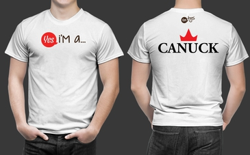 High Quality White Canuck T-Shirt for Men