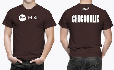 High Quality Brown Chocoholic T-Shirt for Men
