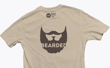 Brown Bearded T-Shirt Slogan