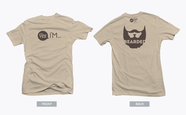 Brown Bearded Tshirt with Dark Brown Graphic