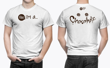 High Quality White Chocoholic T-Shirt for Men