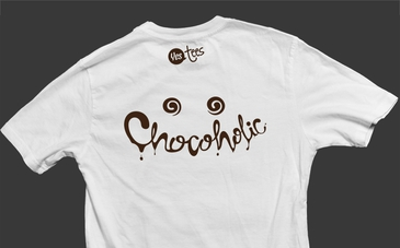 White Chocoholic T-Shirt Slogan