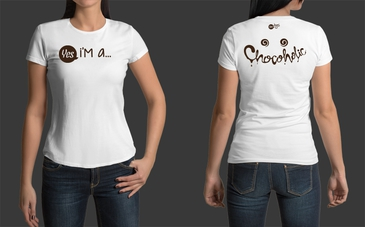 Custom White Chocoholic T-Shirt for Women
